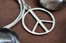 925 Sterling Silver Peace Symbol Charm