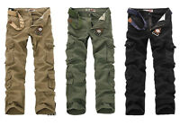 New Men Casual Military Pants Army Cargo Camo Combat Work Trousers