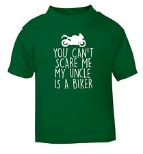 You can't scare me my uncle is a biker baby / toddler t-shirt petrol head 4794