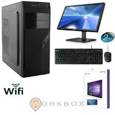 "PC DESKTOP COMPLETO MONITOR 19 "" TASTIERA MOUSE WINDOWS 10 PRO 4GB 500GB WIFI"