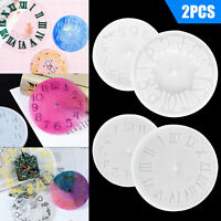 2PCS DIY Epoxy Clock Resin Silicone Mould Casting Mold Craft Tool Kit Home Decor