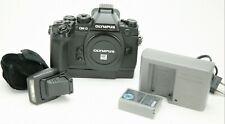 Olympus OM-D E-M1 Micro 4/3rd Digital Camera Body With Plastic Grip & Flash. Ex.