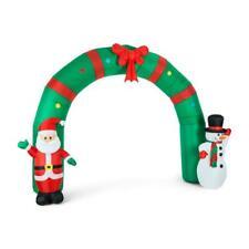 OneConcept Merry Welcome Portique avec Père Noël et Bonhomme de Neige Décoration de Noël - Vert (LEL3MERRYWELCOME)
