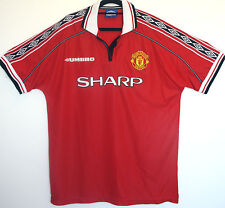 "MANCHESTER UNITED TREBLE HOME SHIRT 1998/1999 XL LARGE 45"" - 47"" 98/99 MAN UTD"
