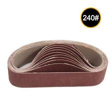 10pcs 30x330mm Abrasive Sanding Belts 240 Grit Sanding Grinding Polishing Tools