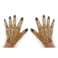 Reptile Claws Dragon Gloves Wart Witch Hands Adult Halloween Costume Accessory
