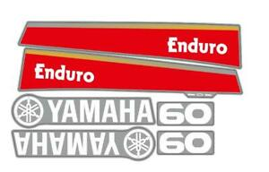 New 60HP Sticker Set For Yamaha Outboard Enduro, Top Cowling Sticker