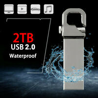 Metal USB 3.0 Flash Drive 2TB Memory Stick Pen drive U Disk for PC Laptop Sliver