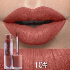 Beauty Velvet Nude Metallic Matte Liquid Lipstick Moisturizer Lasting Lip Gloss 10#