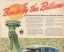 1945 International Trucks Vintage Print Ad WWII Bonds By The Billions War Bonds