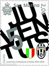 Francobollo JUVE JUVENTUS Campione D'Italia 2015/2016 Scudetto San Marino 2016
