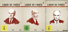 Louis de Funes Colección 1 2 3 große Salsa quietsch schlitzohr Pecho 9 Caja DVD