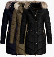Geographical Norway Damen Winter jacke FVSA Parka Mantel Steppjacke stepp mantel