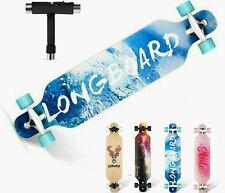 CAROMA 41'' Skateboard Longboard KompletteBoard ABEC-11 8Lagen Ahorn Funboard