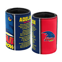 AFL Drink Stubby Cooler - Set Of Two - Team Song - Adelaide Crows - BNWT