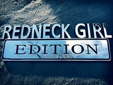 💚❤️💖💜❤️ REDNECK GIRL EDITION CAR TRUCK EMBLEM LOGO DECAL RED NECK GIRL CHROME