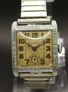 Vintage 1927 Bulova Surrey Art Deco 14K RGP Swiss cal. 10AN Men's Watch