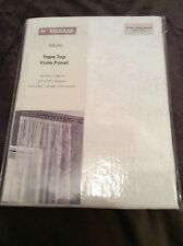 Homebase Allium Tape Top Ready Made Voile Net Panel Window Decoration