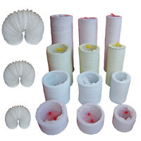 """All sizes PVC Flexible Ducting Tumble Dryer Extractor Hose 4,5,6"""" 100,125,150mm"""