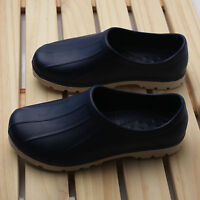 Light Mens Chef Shoes Slippers Sandal Clogs Water Safety Kitchen  Comfort Navy