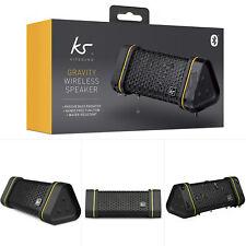 KitSound Gravity Splashproof Wireless Bluetooth Rechargeable Portable Speaker