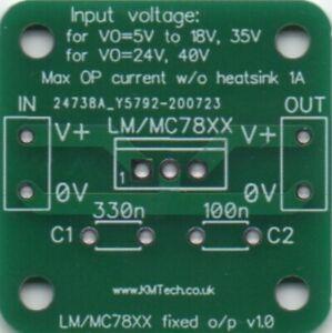 LM78XX Voltage Converter 7.5V -35V to 5V - 24V  Regulator Power Supply PCB DIY