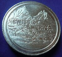 Rare Size Vintage Swiss of America 2 Troy oz .999 Silver Coin Round (131)