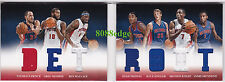 2012-13 PREFERRED BOOKLET SWATCH: ISIAH THOMAS/WALLACE/DRUMMOND/KNIGHT #93/199
