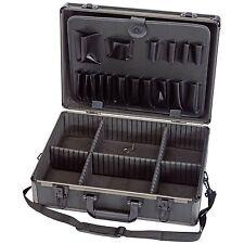 Draper 85744 Garage Workshop Aluminium Effect Tool Case Black Finish Lightweight