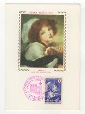 Croix-Rouge Greuze 1971 timbre France 1er jour FDC sur 2 cartes maximums /T2601