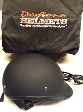 Daytona Hawk D.O.T. Cruiser Harley Motorcycle Helmet - Dull Black - Small