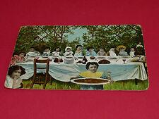 CPA CARTE POSTALE 1905 LA CENE AVEC DES ENFANTS JESUS APOTRES FANTAISIE