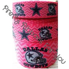 "Pink Dallas Cowboys 1"" wide ribbon 5 yards listing"