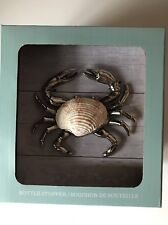 Tommy Bahama Crab Wine Bottle Stopper cork - Silver tone with Shell