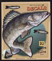 Walleye Large Decal Sticker Right Left Facing Boats Trucks Fishing Fish Outdoor