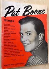 PAT BOONE SINGS Vintage 1957 Songbook 22 Songs plus photos