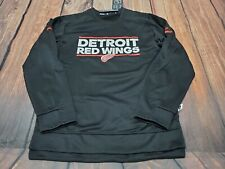 NEW Detroit Red Wings NHL Hockey Adidas Player Long Sleeve Pullover Large