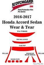 3M Scotchgard Paint Protection Film Pro Series Fits 2016 2017 Honda Accord Sedan