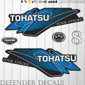 TOHATSU  8 hp FOUR Stroke outboard engine decal sticker set kit reproduction
