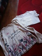 Girls tops age 9-10 years one bew from H&M white Primark good condition