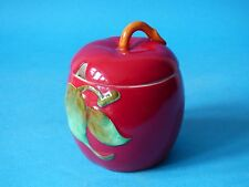 ATTRACTIVE COLLECTABLE CROWN DEVON FIELDINGS RED POTTERY JAM PRESERVE POT #1278