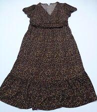 Motherhood Maternity Womens M Brown Design Stretch Dress Great Condition