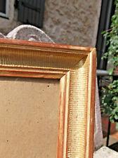 Cadre XIXème à palmettes bois doré verre ancien 38 X 28,5 cm Feuillure 33 X 24cm