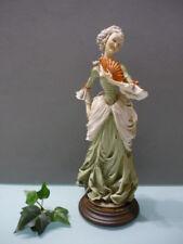 Ältere Guiseppe Armani Porzellan Figur Barock Dame Höhe 28 cm