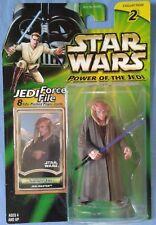 Star Wars Saesee Tiin Jedi Master w/ purple saber, green-carded POTJ, Hasbro