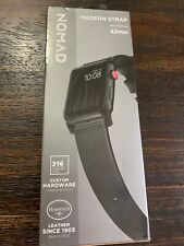 GENUINE Nomad Leather Watch Strap for Apple Watch 42mm Black Hardware! NEW!