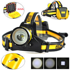BORUiT XM-L2 LED Zoomable Headlamp 4AA Headlight 4 Mode Head Torch W/SOS Whistle