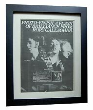 RORY GALLAGHER+Photo Finish+POSTER AD+RARE+ORIGINAL+1978+FRAMED+FAST+GLOBAL SHIP