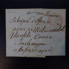"""1848 LETTRE COVER CAD ROUGE """"PARIS PP"""" POUR UN DÉTENU DE L'INSURRECTION DU 23.06"""