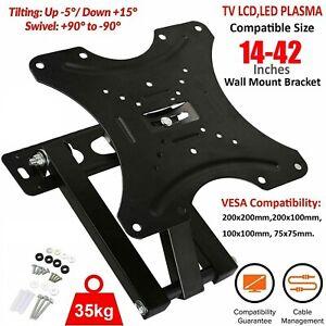 """TV Wall Bracket Tilt Swivel Plasma LCD LED 3D For 14 15 20 23 25 30 32 38 40 42"""""""
